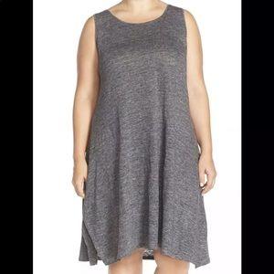 Eileen Fisher organic linen swing dress